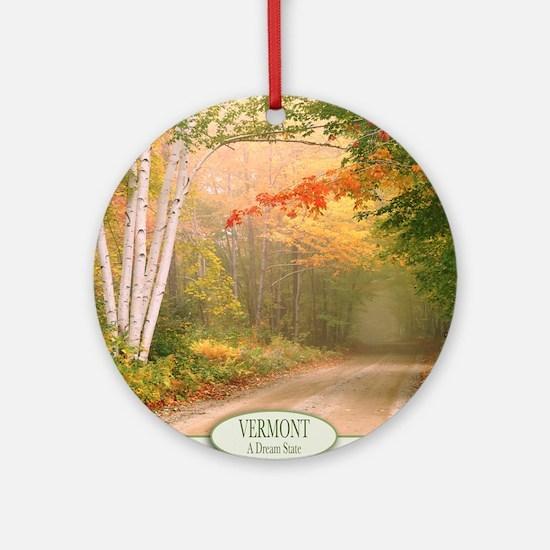 Vermont Round Ornament
