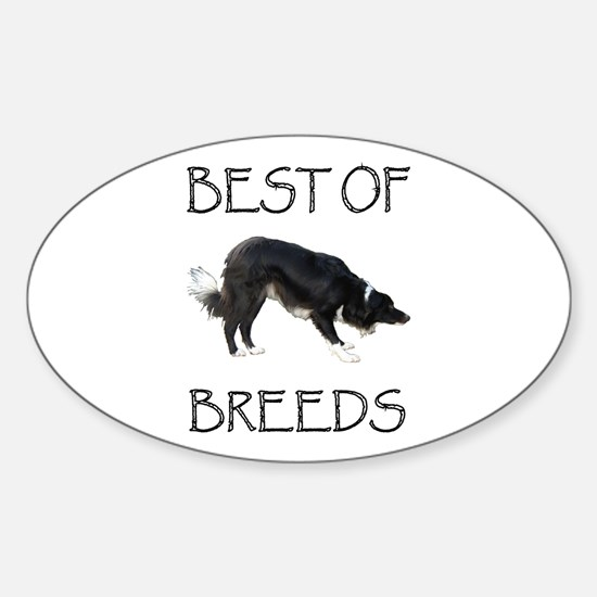 Best of Breeds Oval Decal
