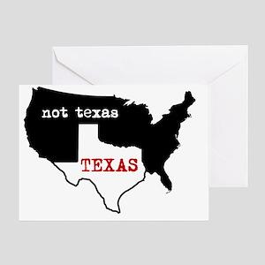 Texas / Not Texas Shirt Greeting Card