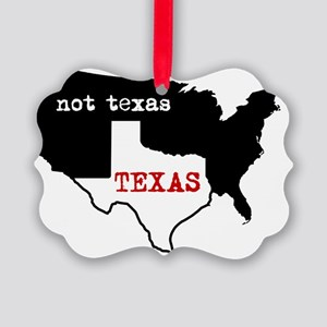 Texas / Not Texas Shirt Picture Ornament