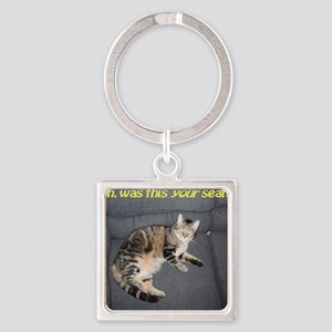 yourseatposter Square Keychain