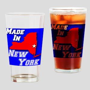 madein_newyork_rwb_whitestar_layere Drinking Glass