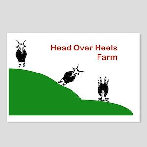 Head Over Heels Farm Logo Postcards (Package of 8)