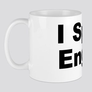 English Black Mug