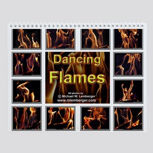 Dancing Flames Wall Calendar