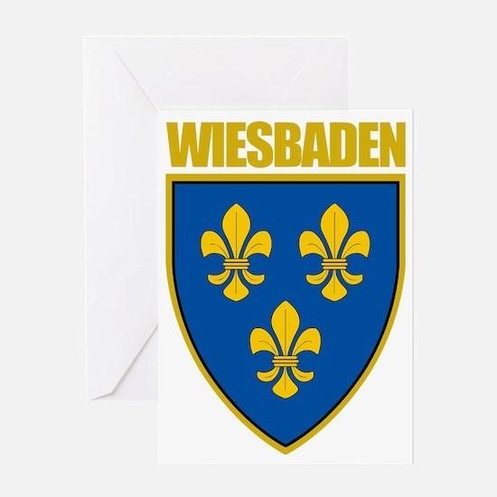 Wiesbaden (gold) Greeting Card