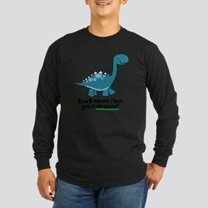 dinosaur Long Sleeve Dark T-Shirt