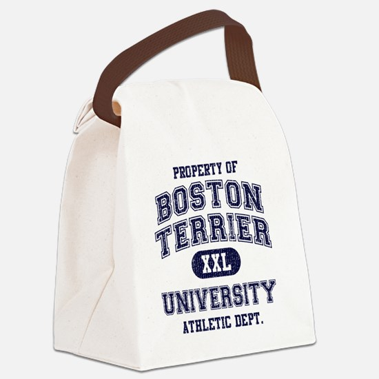 Boston-Terrier-University Canvas Lunch Bag