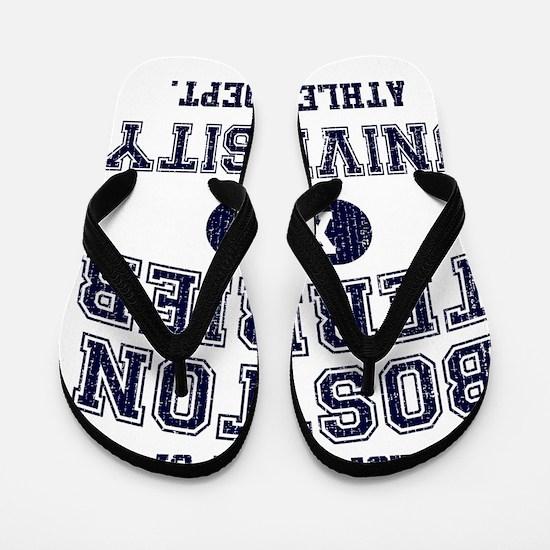 Boston-Terrier-University Flip Flops