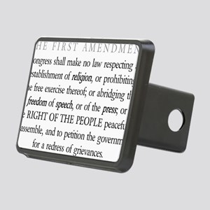 First-Amendment-(white-shi Rectangular Hitch Cover