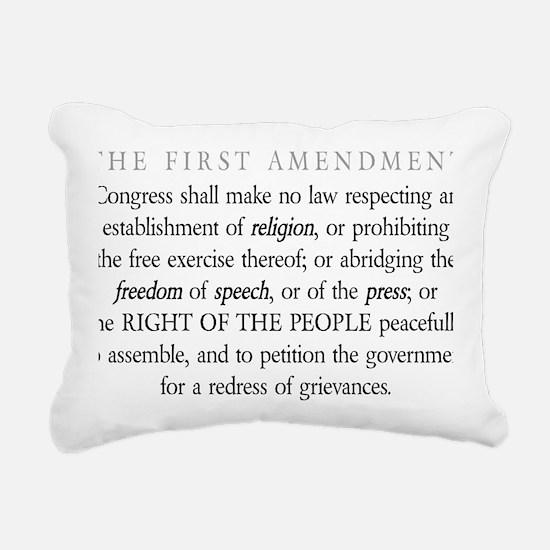 First-Amendment-(white-s Rectangular Canvas Pillow