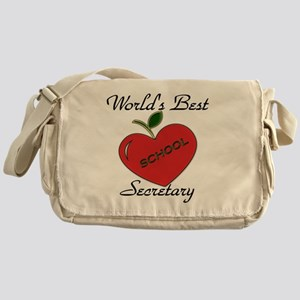 Worlds Best Teacher Apple secretary  Messenger Bag