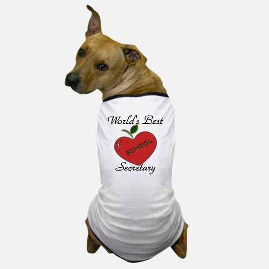 Worlds Best Teacher Apple secretary co Dog T-Shirt