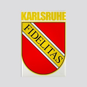 Karlsruhe (gold) Rectangle Magnet