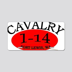 1st Squadron 14th Cavalry c Aluminum License Plate