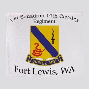 1st Squadron 14th Cavalry Throw Blanket