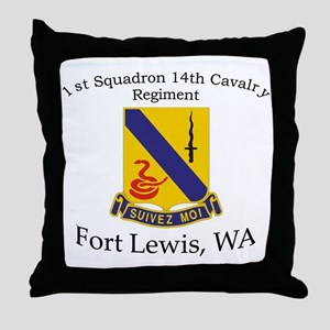 1st Squadron 14th Cavalry Throw Pillow