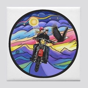 Round-MC-Eagle1-MW2B Tile Coaster