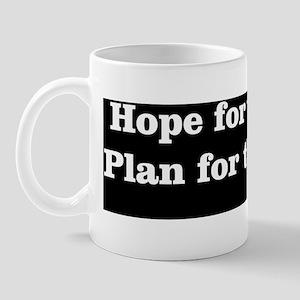 Bumper Sticker Hope White Mug