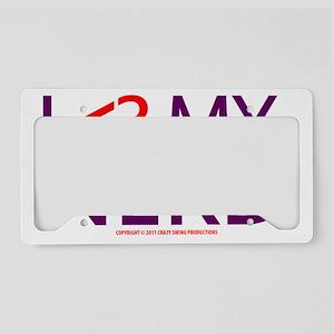 ilovemynerd_lightshirt License Plate Holder