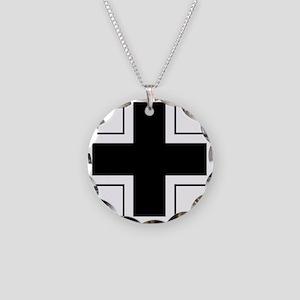 7x7-Balkenkreuz Necklace Circle Charm