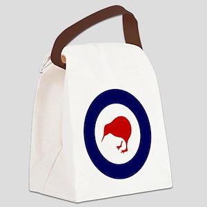 5x5-Rnzaf_roundel Canvas Lunch Bag