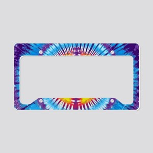 Purple Peace Laptop License Plate Holder