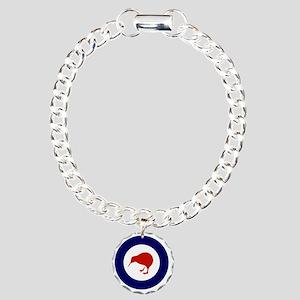 10x10-Rnzaf_roundel Charm Bracelet, One Charm