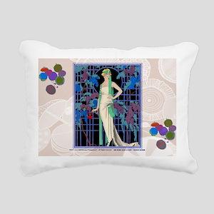 3 MARCH BARBIER DES ROSE Rectangular Canvas Pillow