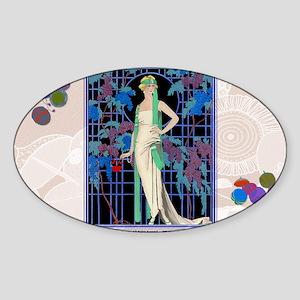 3 MARCH BARBIER DES ROSES-NUIT Sticker (Oval)