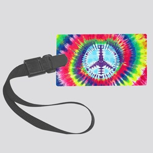 Spiral Peace Laptop Large Luggage Tag