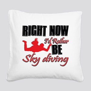 skidiving Square Canvas Pillow