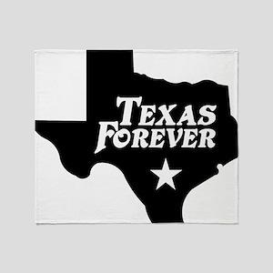 state-texas-forever-star-black Throw Blanket