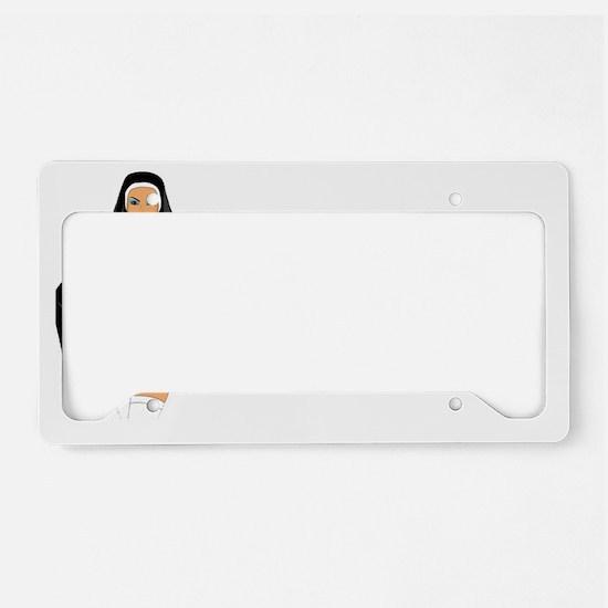 NILF 1 white License Plate Holder