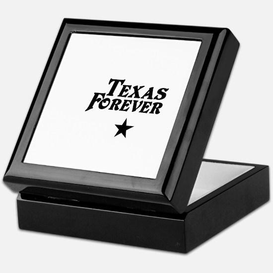 state-texas-forever-star-white-black Keepsake Box