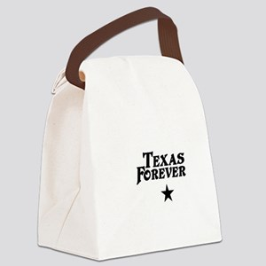 state-texas-forever-star-white-bl Canvas Lunch Bag