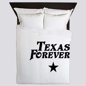 state-texas-forever-star-white-black Queen Duvet