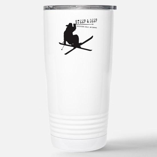 Ski Jackson Hole Stainless Steel Travel Mug