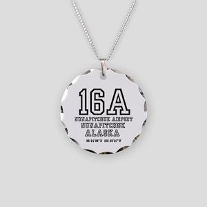 AIRPORT CODES - 16A - NUNAPI Necklace Circle Charm