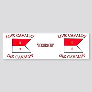 1st Squadron 14th Cavalry Mug4 Sticker (Bumper)