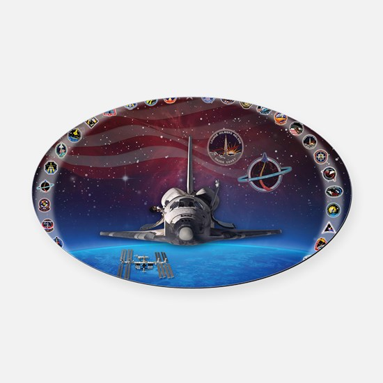 L Discovery Tribute Oval Car Magnet