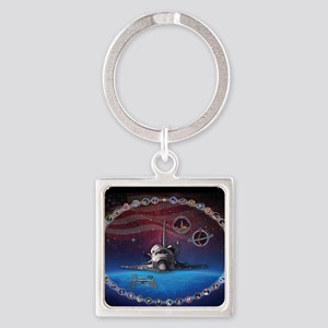 L Discovery Tribute Square Keychain