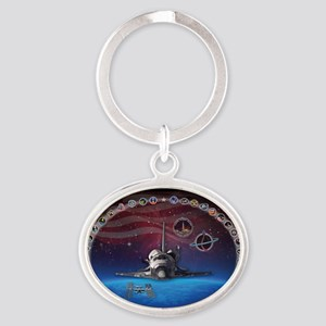 L Discovery Tribute Oval Keychain