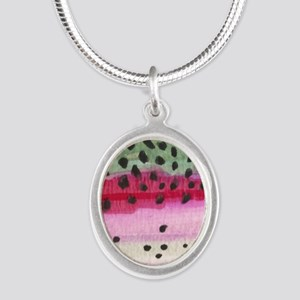 skin_sq Silver Oval Necklace