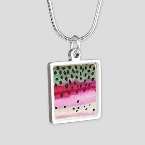 skin_sq Silver Square Necklace