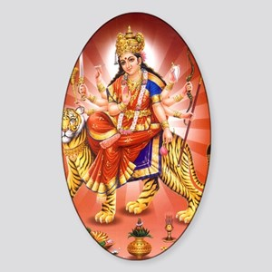maa-durga-5 Sticker (Oval)
