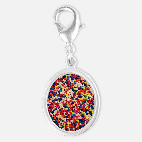 candy-sprinkles_ff Silver Oval Charm