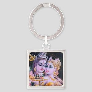 ShivaShakti Square Keychain