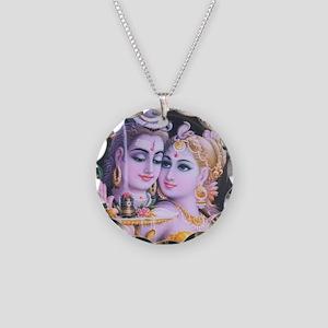 ShivaShakti Necklace Circle Charm
