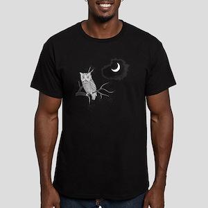 Owl in Moonlight Men's Fitted T-Shirt (dark)